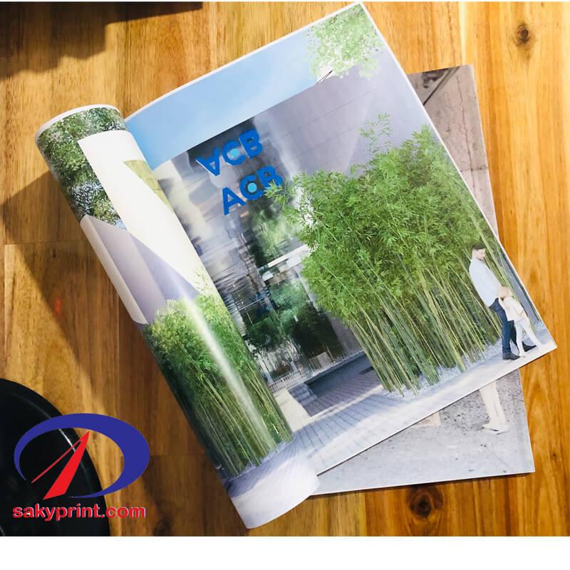 in sách dạng tạp chí tại nhà in Sakyprint