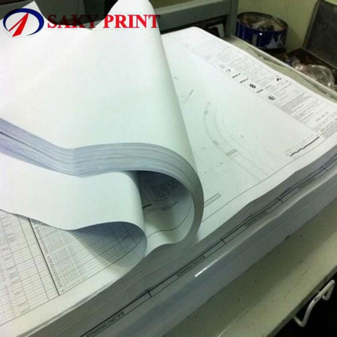 Photocopy khổ A0 bản vẽ kỹ thuật