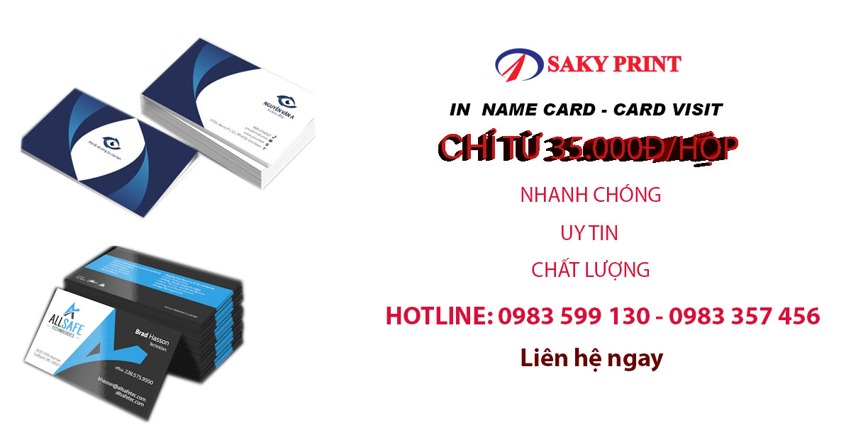 In name card, card visit giá rẻ