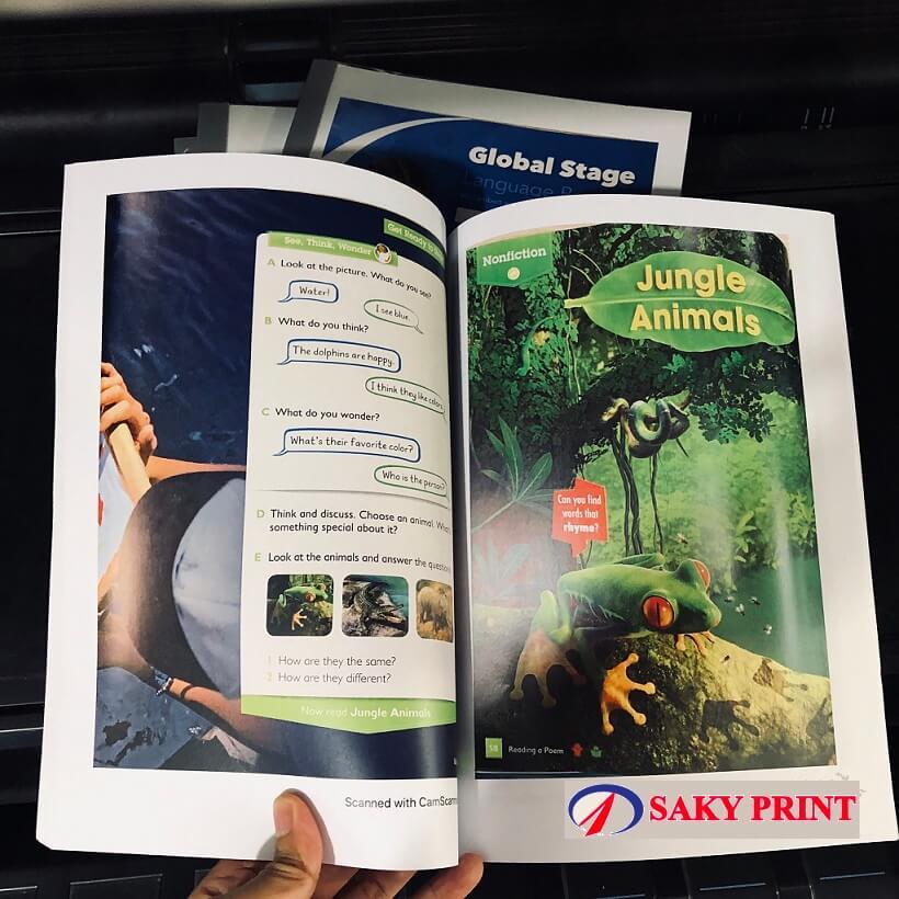 Photocopy sách màu