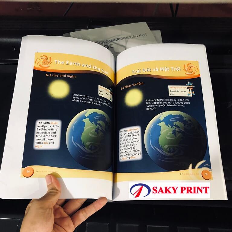 Sách photocopy màu tại Sakyprint